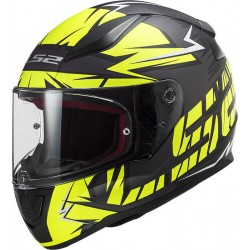 LS2 Rapid Cromo Matt Black H-V Yellow