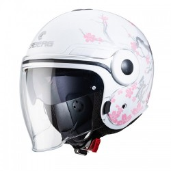 Caberg Uptown Bloom White Silver Pink