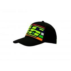 VR 46 Stripes Cap Black