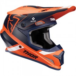 Thor Sector Mips Split Orange/Navy Helmet