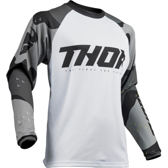 Thor Sector S9 Jersey Camo Gray