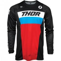 Μπλούζα MX Thor Pulse Racer Black/Red/Blue