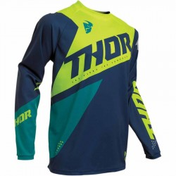 Thor S20 Jersey Sector Blade Navy/Acid
