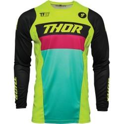 Μπλούζα MX Thor Pulse Racer Acid/Black