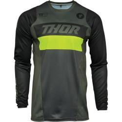 Μπλούζα MX Thor Pulse Racer Army Green/Acid
