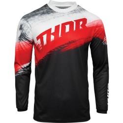 Μπλούζα MX Thor Sector Vapor Red/Black