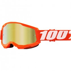 Μάσκα 100% Strata 2 Orange-Mirror Gold Lens