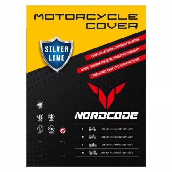 Κάλυμμα Μοτοσυκλέτας Nordcode Cover Silver Line LARGE