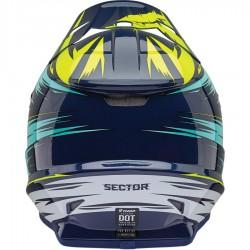 Thor Sector Warp Navy/Teal Helmet