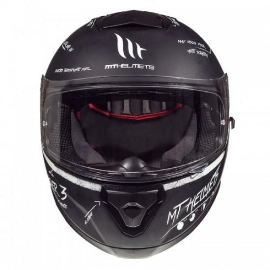 MT Thunder 3 SV Board black-white matt