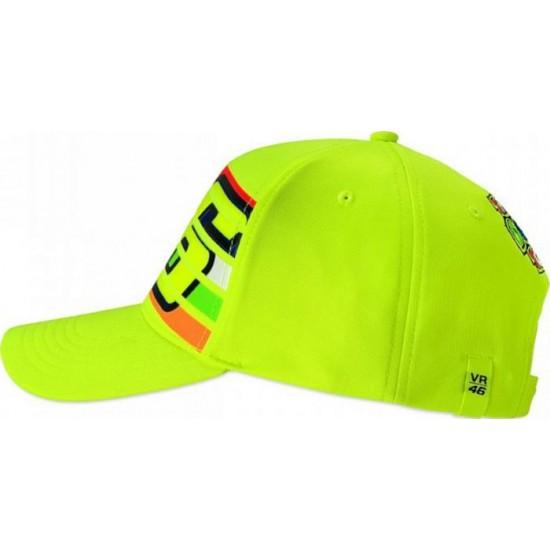 VR 46 Stripes Cap Fluo Yellow